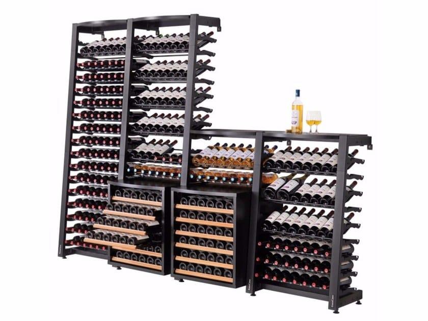 Modular wine cellar MODULOSTEEL by EuroCave