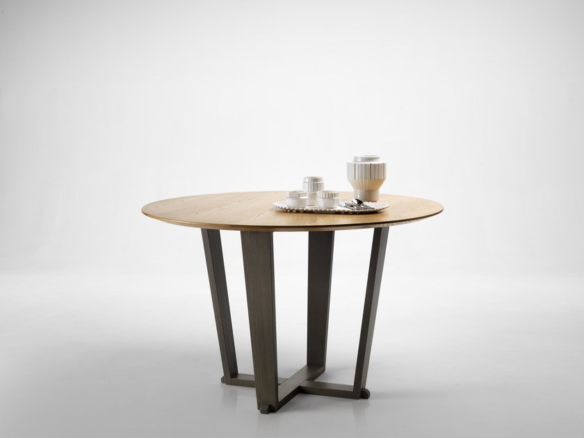 Round oak table MODUS by L'Ottocento
