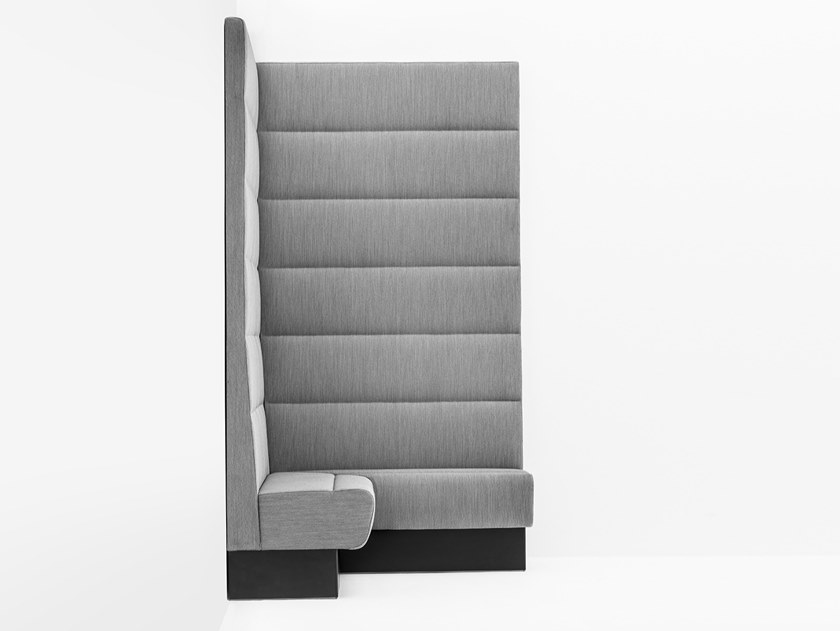 Corner modular high-back fabric sofa MODUS MDA by Pedrali