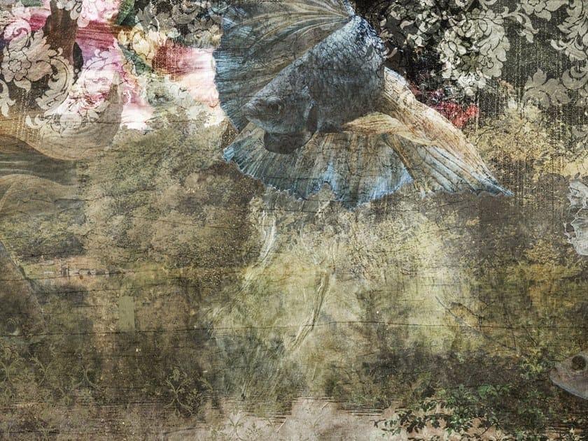 Carta da parati a striscia unica panoramica in tessuto non tessuto MOGAMI by Tecnografica