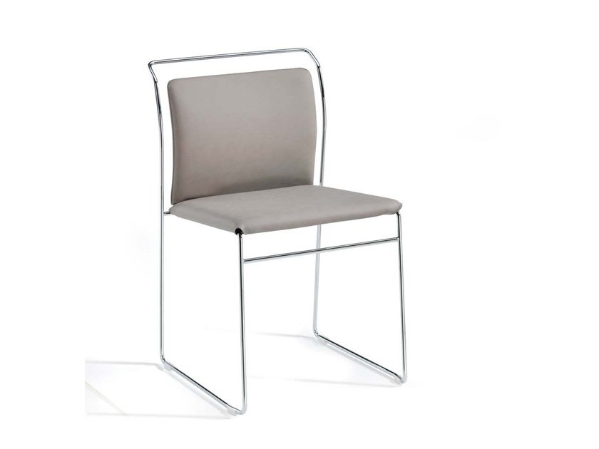 Sled base stackable chair MOGLIANO by Trevisan Asolo