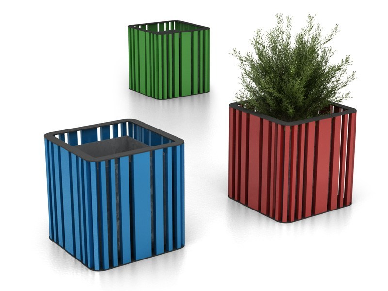 Powder coated steel Flower pot MOKO | Flower pot by LAB23 Gibillero Design