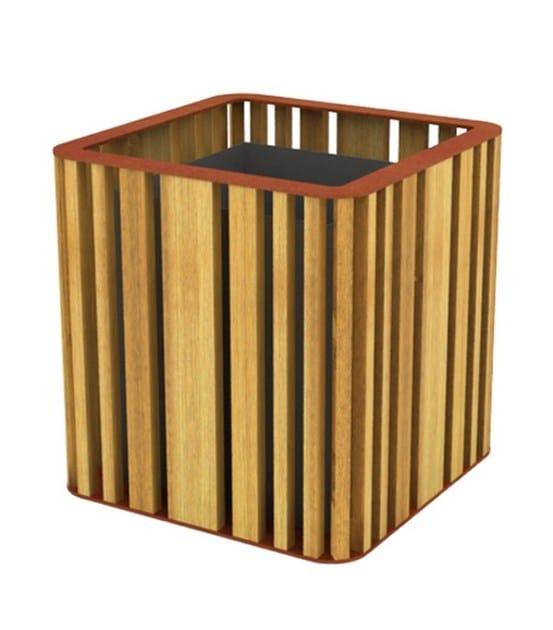 top corten steel - natural wood