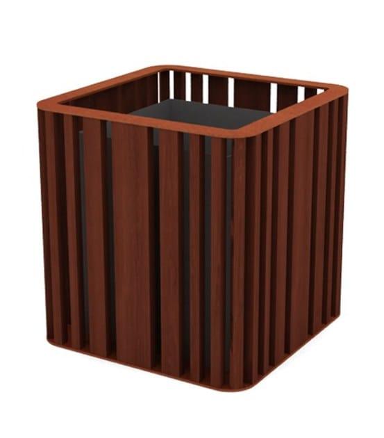 top corten steel - iroko wood