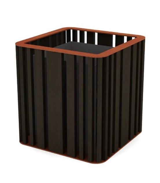 top corten steel - wenge wood