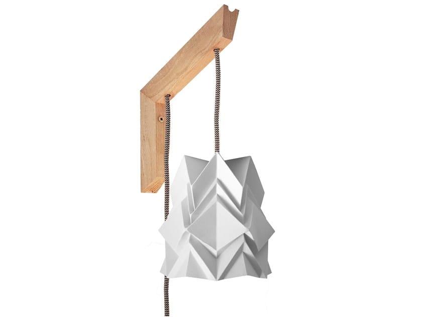 Handmade paper wall lamp MOKUZAI SMALL by Tedzukuri Atelier