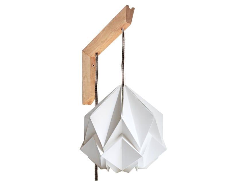 Handmade paper wall lamp MOKUZAI by Tedzukuri Atelier