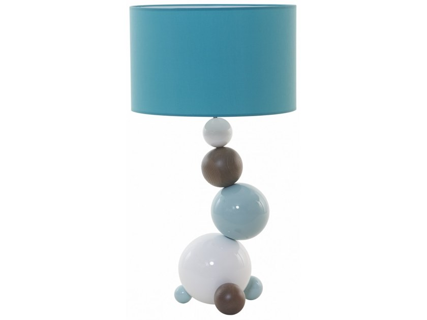 Wooden table lamp MOLECULE by Flam & Luce