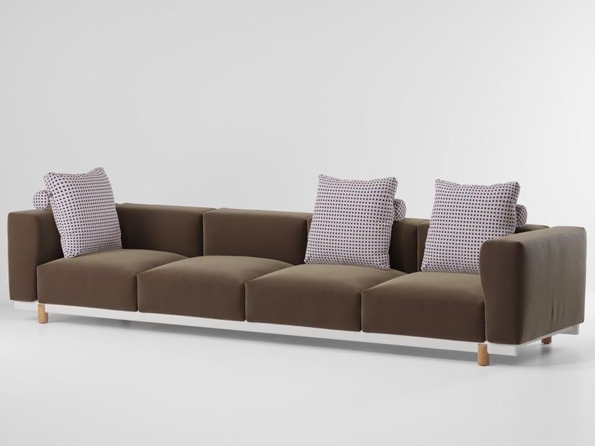 4 seater fabric garden sofa MOLO | 4 seater garden sofa by Kettal