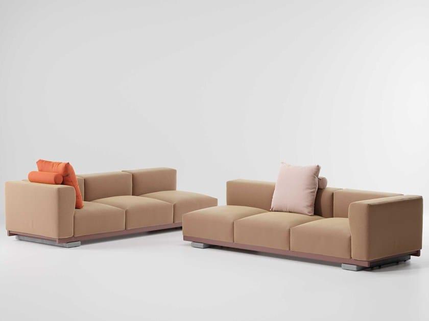 Corner fabric sofa MOLO | 3 seater sofa by Kettal