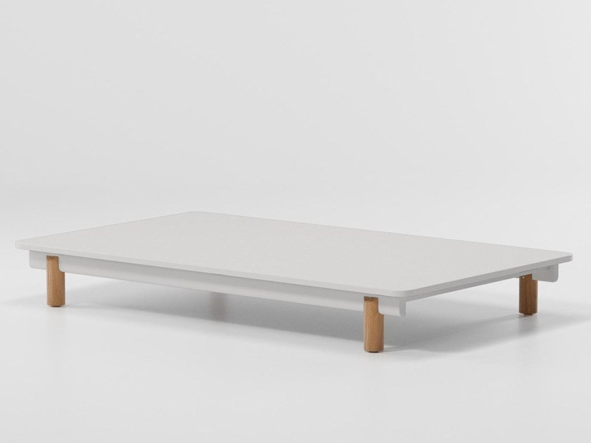 Rectangular aluminium coffee table MOLO | Rectangular coffee table by Kettal