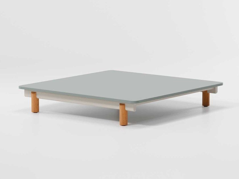 Square aluminium coffee table MOLO | Square coffee table by Kettal