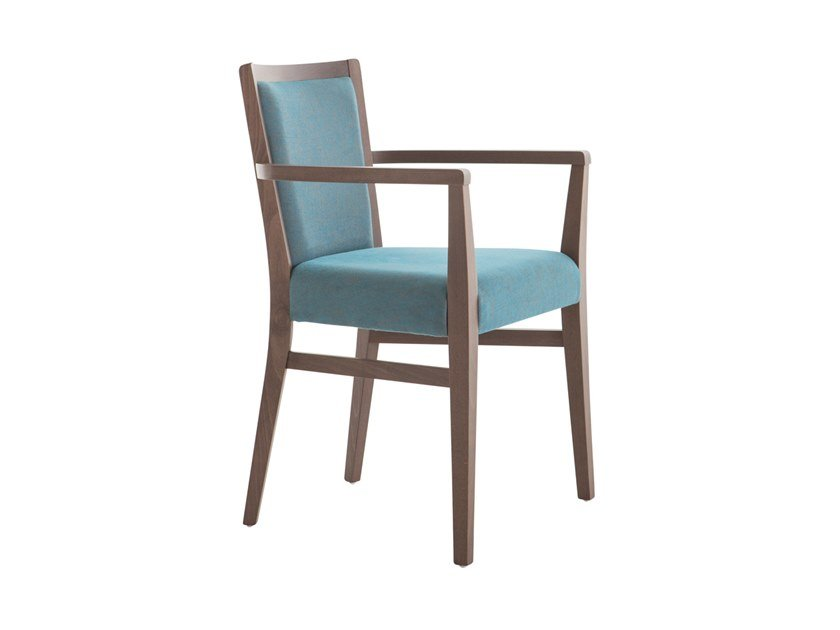 Upholstered beech chair with armrests MOMA SOFT 472HP.i4 by Palma