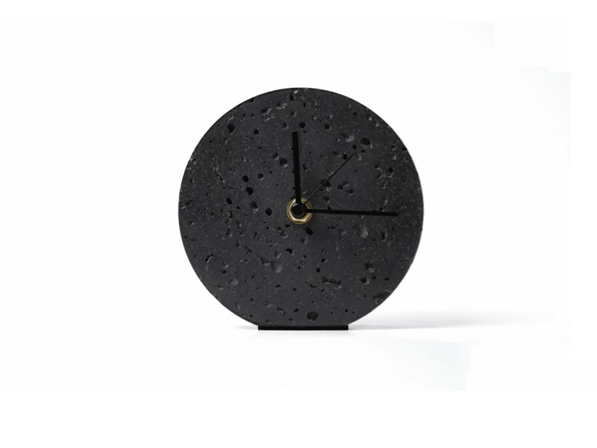 Table-top lava stone clock MOMENT | Table-top clock by BUZAO