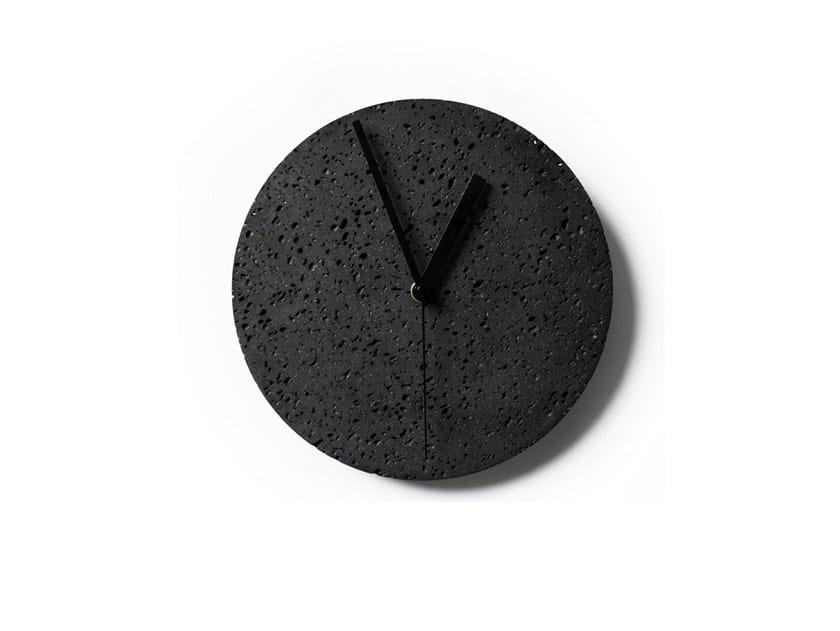 Wall-mounted lava stone clock MOMENT | Wall-mounted clock by BUZAO