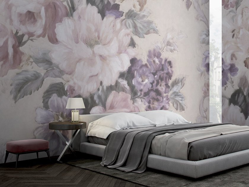 Wallpaper with floral pattern MOMENTUM by GLAMORA