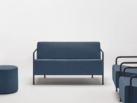 Fabric small sofa MOMMO MO2PB | Fabric small sofa by delaoliva