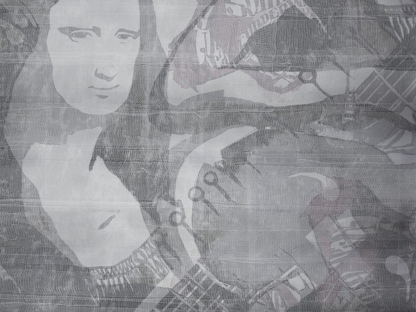 Contemporary style thermal writing wallpaper MONALISA by Tecnografica Italian Wallcoverings