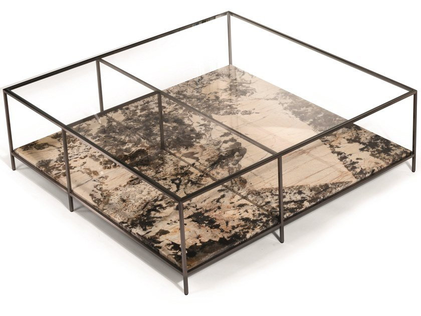 Low square marble coffee table MONDRIAN   Coffee table by Visionnaire
