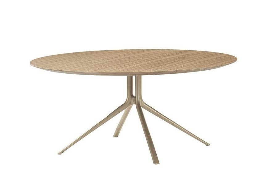 Round wooden table MONDRIAN | Wooden table by Poliform