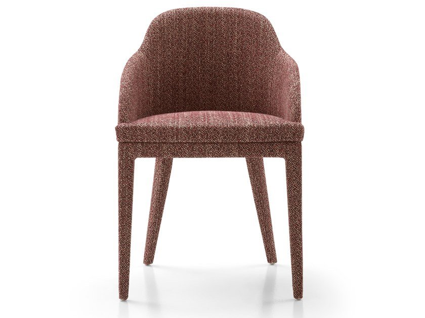 Upholstered fabric chair with armrests MONICA | Fabric chair by Bodema
