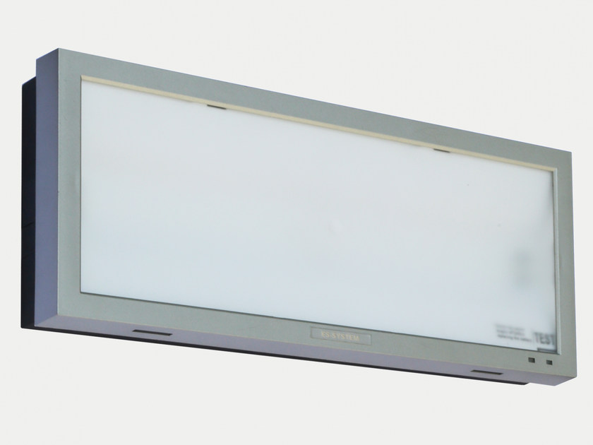 LED wall-mounted plastic emergency light MONITOR1 IP40 OP10 by ES-SYSTEM