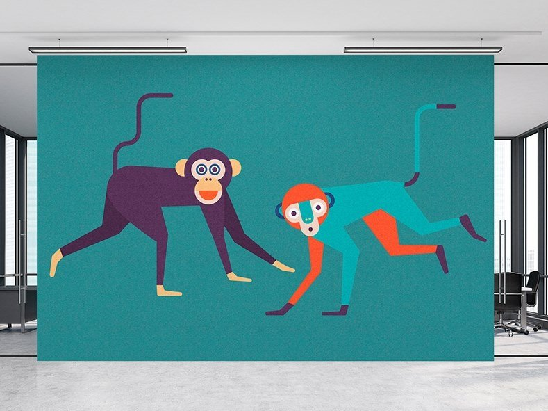 Washable Digital printing wallpaper MONKEY BUSINESS by Architects Paper