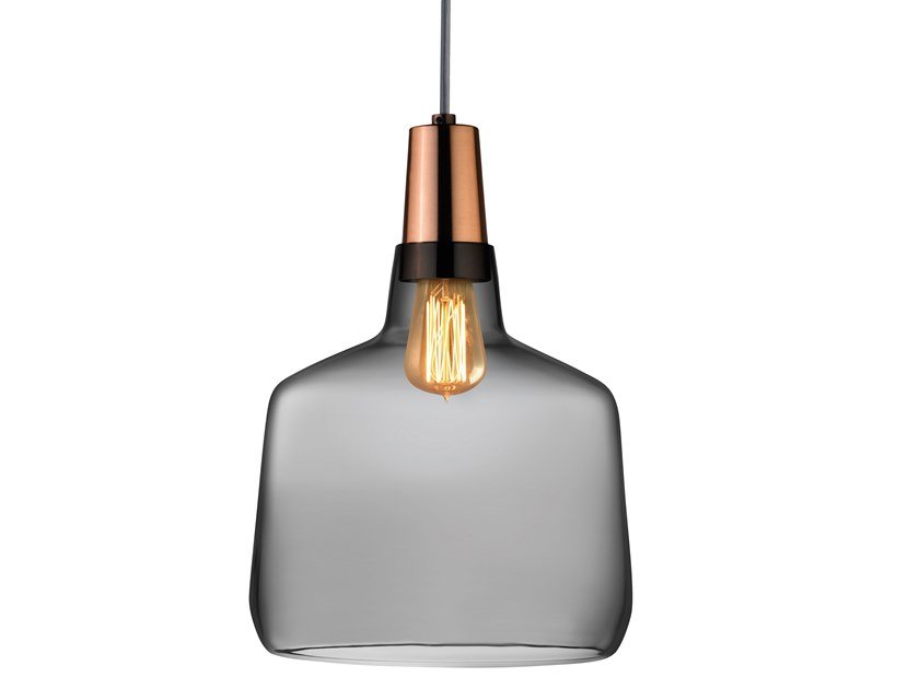 Crystal pendant lamp MONO REGULAR by NUDE