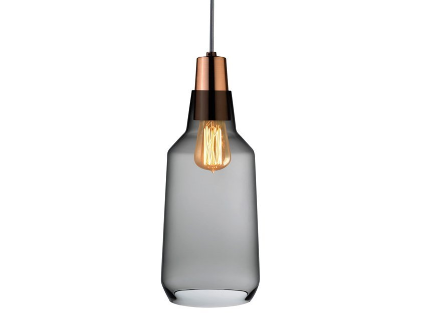 Crystal pendant lamp MONO TALL by NUDE