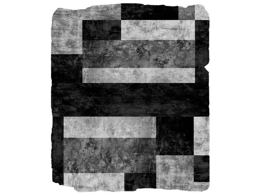 Handmade rug MONO W4 SILVER by HENZEL STUDIO