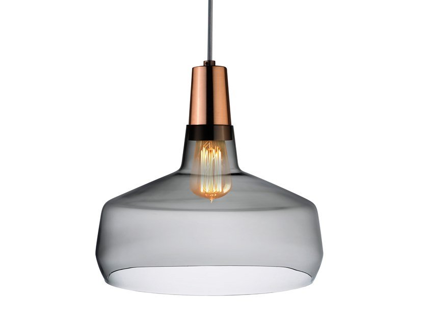 Crystal pendant lamp MONO WIDE by NUDE