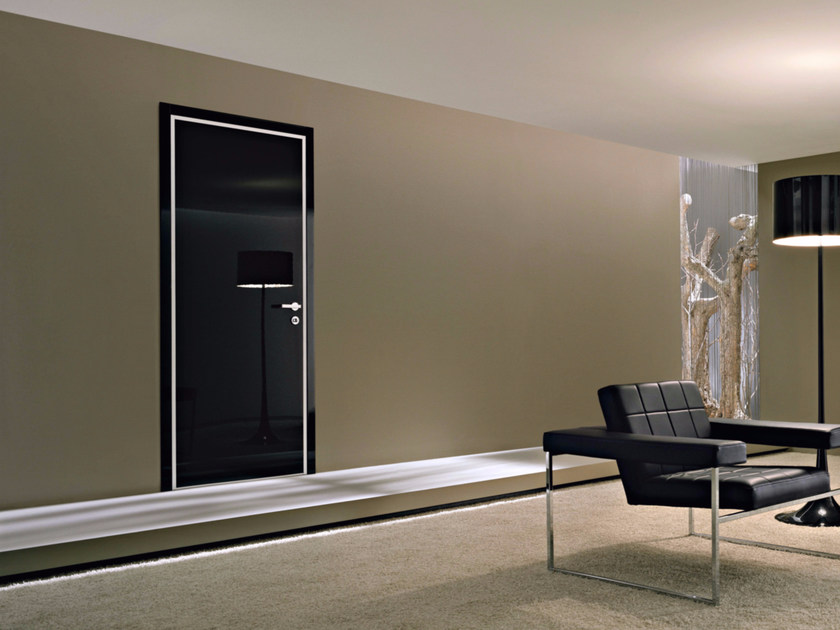 Safety door with concealed hinges MONOLITE - 15.1008 MNT6000 by Bauxt