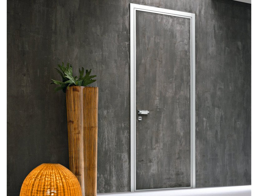 Safety door with concealed hinges MONOLITE - 15.1021 MNT6000 by Bauxt