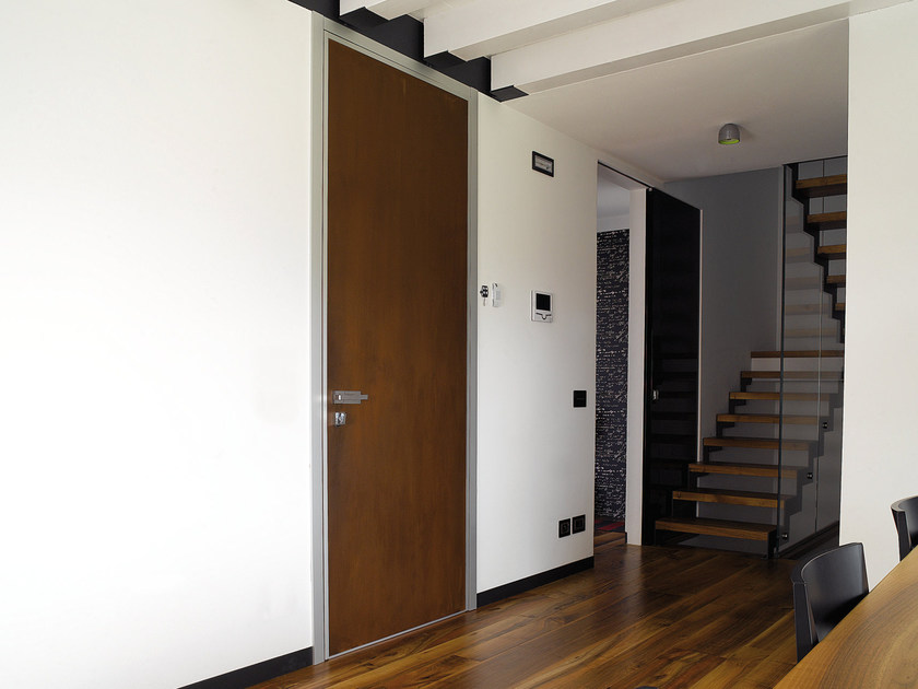 Safety door with concealed hinges MONOLITE - 15.1016 MNT6000 by Bauxt