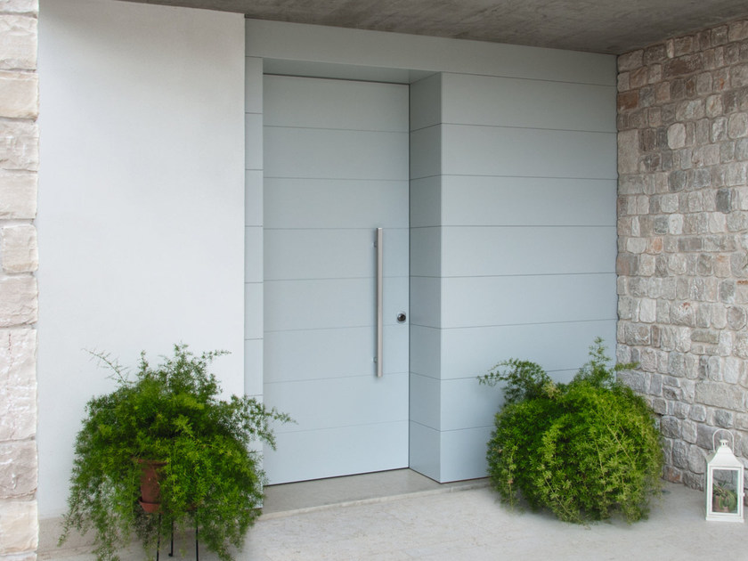 Safety door with concealed hinges MONOLITE - 15.1014 MNT6000 by Bauxt