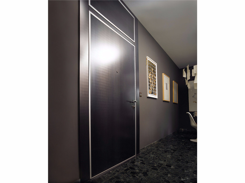 Safety door with concealed hinges MONOLITE - 15.1010 MNT6000 by Bauxt