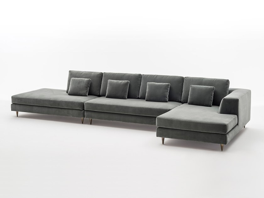 Sectional Fabric Sofa With Chaise Longue MONTALE | Sectional Sofa By OAK