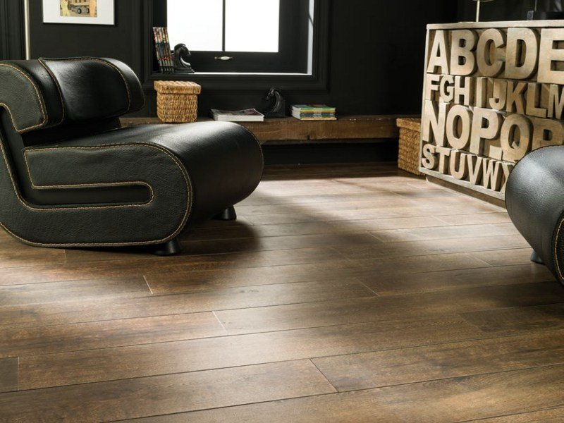 Indoor/outdoor porcelain stoneware flooring with wood effect MONTANA by Venis