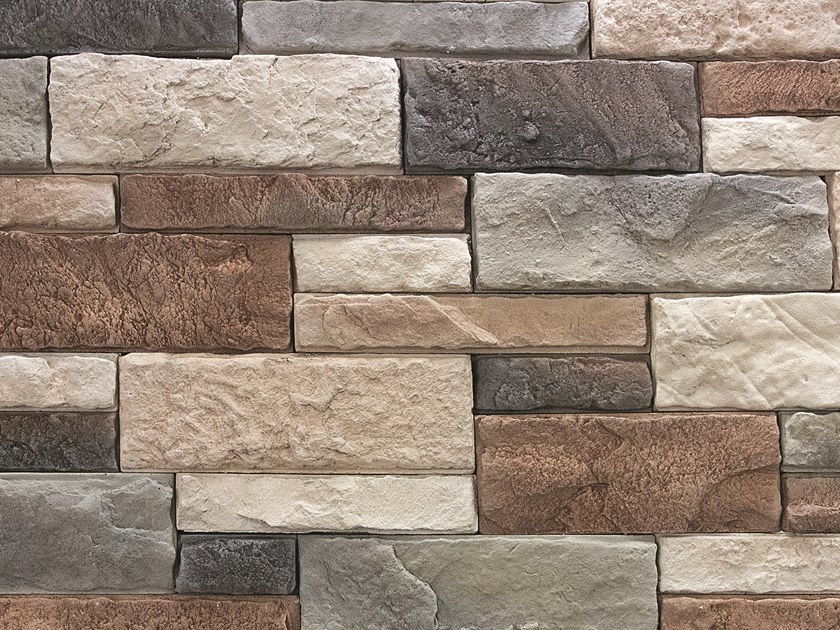 Reconstructed stone wall tiles MONTE CURCIO by Decor