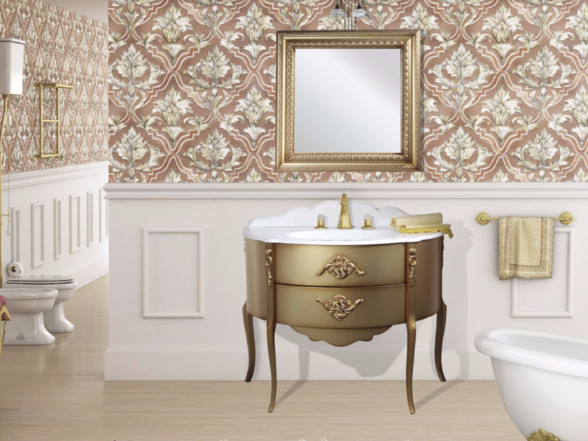 Lacquered vanity unit with drawers with mirror MONTECRISTO CM27DC by LA BUSSOLA