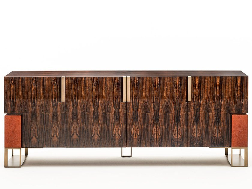 Ebony sideboard with doors MONTENAPOLEONE | Ebony sideboard by OAK