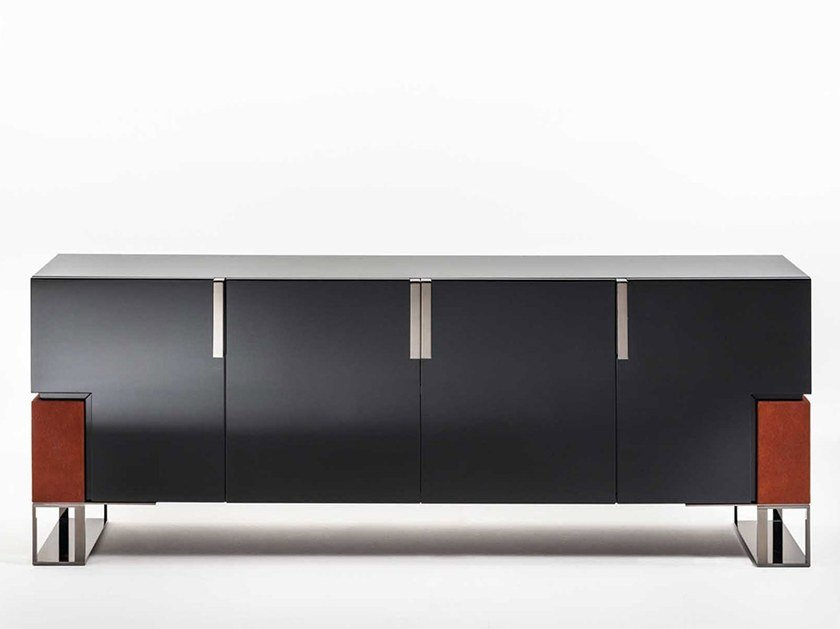 Lacquered sideboard with doors MONTENAPOLEONE | Lacquered sideboard by OAK