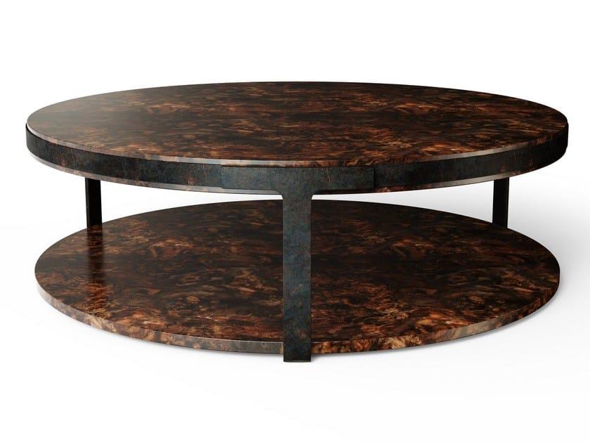 Round wooden coffee table MONTICELLO by Porustudio