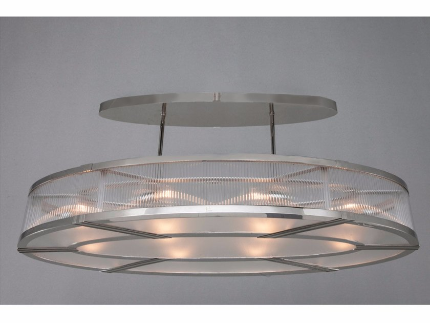 Direct light nickel pendant lamp MONTREAL | Nickel pendant lamp by Patinas Lighting