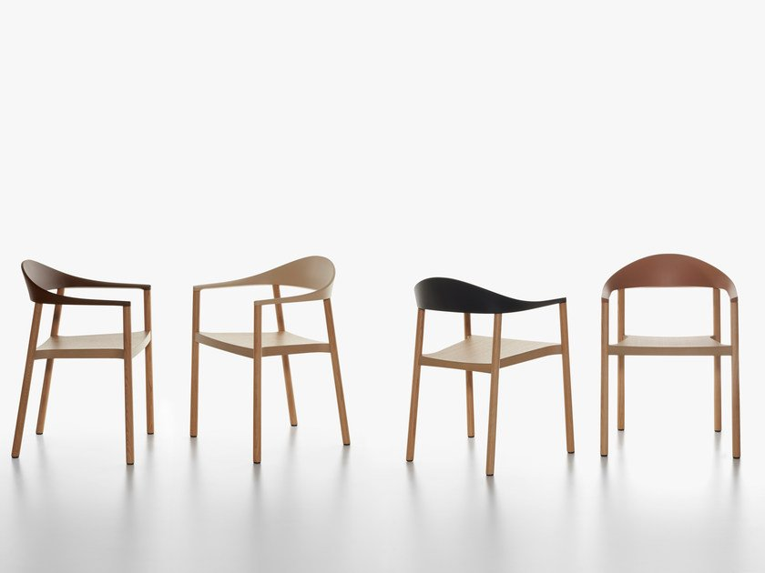 Stackable oak chair MONZA | Oak chair by Plank
