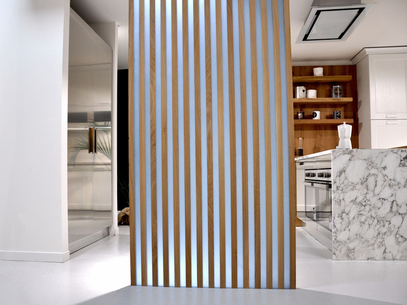 Resin and wood room divider MOOD by Azimut-Resine