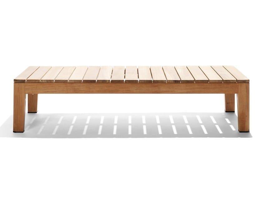 Rectangular teak garden side table MOOD | Rectangular coffee table by TRIBÙ