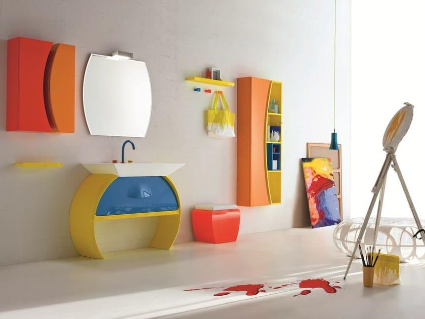 Bathroom furniture set MOON - 04 by Cerasa
