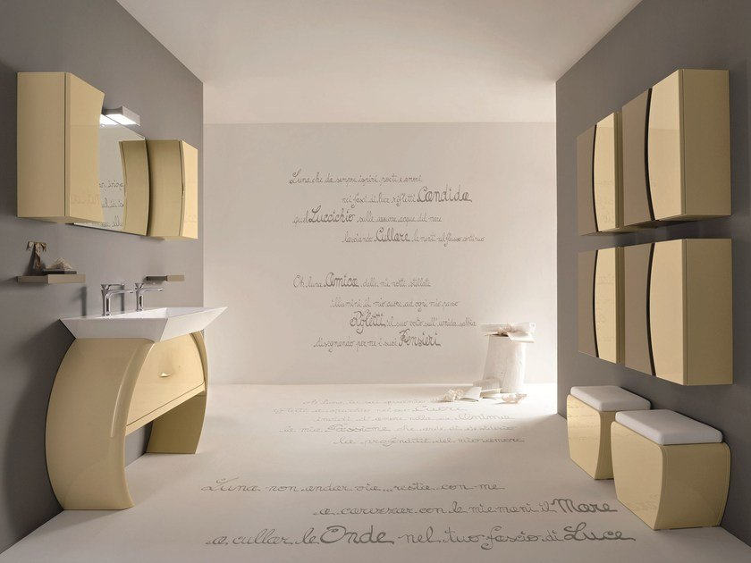 Bathroom furniture set MOON - 06 by Cerasa