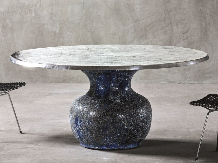 Round marble table MOON 34-36 by Gervasoni
